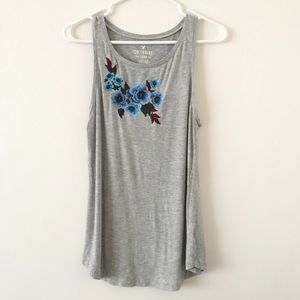 American Eagle Outfitters Soft Tank Embroidered
